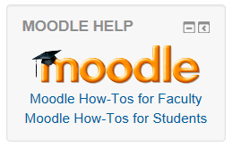 Screenshot of Moodle Help block